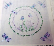 "6 Stamped Quilt Blocks DRAGONFLIES 18/"" blocks Tobin//Design Works"