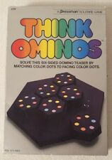 THINK OMINOS - VTG Pressman Solitaire Game 1984 #111