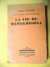 ROMAIN ROLLAND LA VIE DE RAMAKRISHNA INDE MYSTIQUE PHILOSOPHIE STOCK 1930
