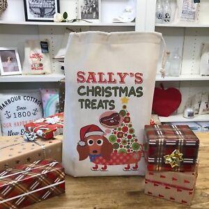 Personalised Dog Santa Sack - Dachshund - Sally Design