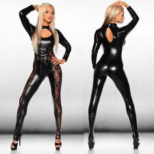 Women Sexy Lingerie Latex Leather Catsuit Cosplay Fancy Bodysuit Costume K0B1