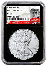2017 American Silver Eagle NGC MS70 First Day Issue (Black 225th Anniv) SKU45668
