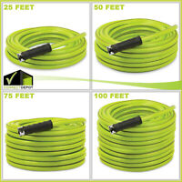 1/2 in. Dia. x 25/50/75/100 ft Heavy Duty Kink-Resistant Lightweight Garden Hose