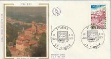 1904+ FDC  ENVELOPPE 1er JOUR SOIE    SERIE TOURISTIQUE  THIERS