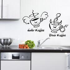 Wandtattoo guter Kaffee special böser Sticker Küche 169