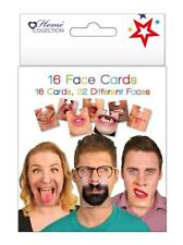 16 Face Mats Cards Funny Beer Game Double Sided Ideal For Drinking Party Night