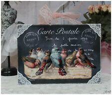 "New! ""Carte Postale"" ~ Shabby Chic Vintage Country Cottage style Wall Decor Sign"