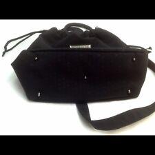 Sonia Rykiel Paris Black Nylon Satchel Handbag