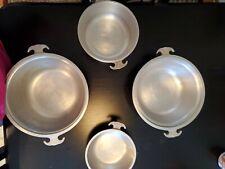 Vintage Guardian Service Hammered Aluminum Waterless Cookware 4 Piece Set