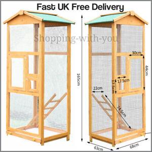 Bird Cage Bird Aviary Small Birds Canary Parakeet Finches Wooden indoor outdoor
