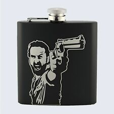 RICK GRIMES, The Walking Dead TV Series Inspired, 6oz Drinks Beverage Hip Flask