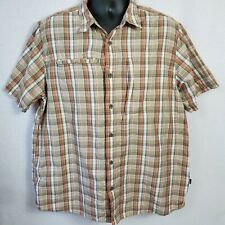 The North Face Mens Size XL Short Sleeve Button Front Shirt Hiking