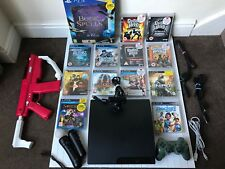 Sony PlayStation 3 160GB Console & Move, Gun,Controllers,Camera,13 Games BUNDLE