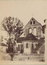 Eglise Saint-Etienne de Fosses Val d'Oise.tirage sur papier albuminé v. 1880