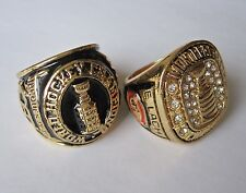 (2) STANLEY CUP 1945 & 1959  REPLICA CHAMPIONSHIP RINGS  MONTREAL CANADIENS
