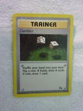 Carte pokémon trainer gambler 60/62 commune fossile wizard carte anglaise usée