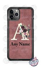 Bouquet Monogram Rose Vine Phone Case Cover For iPhone 11 Pro Samsung A20 LG etc