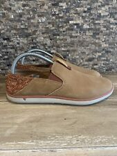 Merrell Womens 9.5 Leather Brown Sugar & Fabric Shoes Comfort Footwear Slip-on