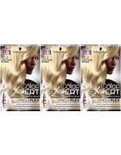 Schwarzkopf Color Expert 10.2 Light Cool Blonde Permanent Hair Dye x3