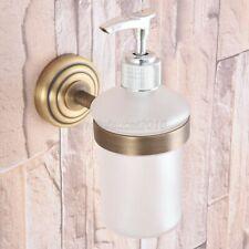 Antique Brass Wall Mount Bathroom Kitchen Sink Liquid Soap Dispenser Lba743
