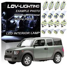6Pcs White 6000K LED Lights Interior Bulbs Package for Honda Element 2003-2008