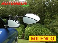 GENUINE Milenco Aero 3 Towing Mirrors (Pair) Flat Glass with FREE Storage Bag