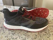 Adidas Crossknit Boost Sz 10.5 Golf Shoes Men's Black/Red Q44684  🔥 9.5/10