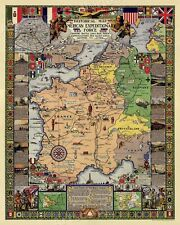 Historical Battle Map of World War I - 1932 Vintage Style Conflict Map - 24x30