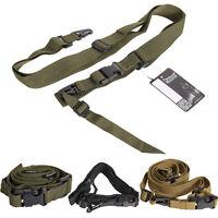 Adjustable Hunting 3 Point Rifle Sling Bungee Tactical Shotgun Gun Strap System