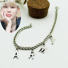 Bts Jimin Army Bangtan Boys Ji Min Silver Bracelet Kpop New Y2296