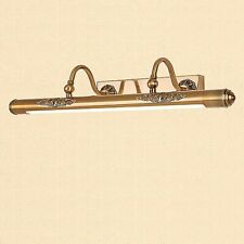 Vintage Brass Bathroom Lighting Metal Wall Light LED Integrated Vanity Light