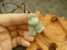 100% Natural A JADE Jadeite hand carved Pendant Green Goldfish Fish 7721