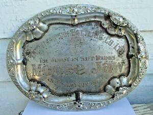 ANTIQUE 1900'S ADVERTISING SERVING TRAY THOMPSON BOTTLING CO LTD MOOSE JAW SASK