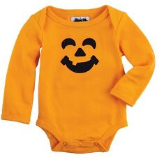 Mud Pie Halloween Pumpkin Jack-O-Lantern Crawler 0-6 Months, Comes in Gift Box