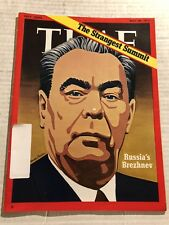 1972 TIME MAGAZINE Russian Leader LEONID BREZHNEV Richard NIXON Moscow Summit