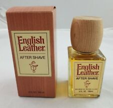VINTAGE English Leather Aftershave 4 fl oz in box MEM Co No. 913 USA Wood Look