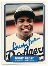 DUSTY BAKER - SIGNED/AUTO/AUTOGRAPH ON A 1982 BASEBALL CARD - DODGERS