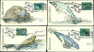 US FDC #2508 - #2511 Charles Beery Hand Painted Cachet Baltimore, MD Set of 4