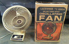 "Vintage Lakewood 1200A 3 Speed Oscillating 12"" Fan"