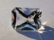 Genuine 1.5 Ct Faceted Herkimer Diamond from NY USA - Emerald Cut - Eye Clean