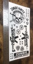 1/10 1/8 Zombie RC Body Stickers / Decals Sheet - Traxxas Arrma (Clear Vinyl)