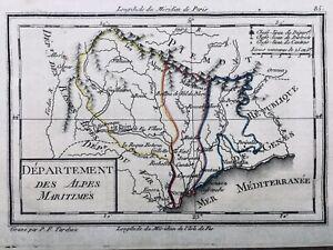 Alpes Maritimes en 1794 Menton Nice Saint Paul de Vence Roquestéron Scaréna