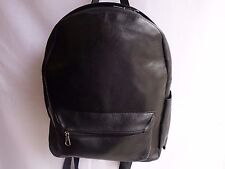 Ladies Soft Cow Leather Backpack Rucksack with Space for small LapTop Black