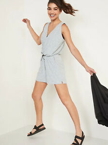 Old Navy Women's Breathe ON Cross Front V-Neck Romper 3.5 Inseam Size M L or XL