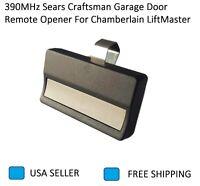 390MHz Sears Craftsman Garage Door Remote Opener For Chamberlain LiftMaster USA