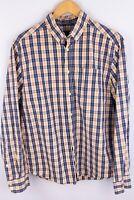 Peak Performance Men Casual Shirt Blue Check Cotton size L