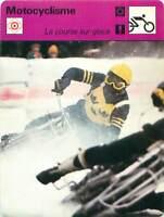 FICHE CARD: Course sur glace MOTORCYCLING 1970s
