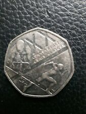 Glasgow Commonwealth games 50p coin