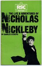 Life & Adventues Of Nicholas Nickelby Charles Dickens 1980 RSC Programme