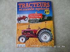 FASCICULE TRACTEURS ET MONDE AGRICOLE N° 25 ZETOR SUPER 550   G30